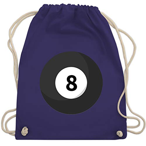 Karneval & Fasching - Billardkugel 8 Kostüm - Unisize - Lila - WM110 - Turnbeutel & Gym Bag (Gruppe Kostüme Ideen Für 8)