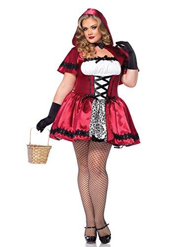Generique Rotkäppchen-Kostüm (Plus Size) für Damen XXXL (Hood Riding Red Lange Cape)
