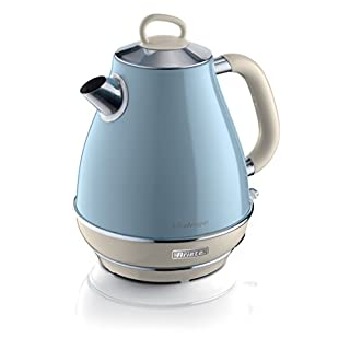 Ariete 2869/05 Retro Style Electric Jug Kettle, Cool to Touch Exterior and Removable Filter, Vintage Design, 2000 W, 1.7 Litres, Blue