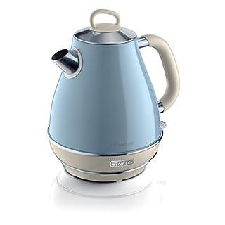 Ariete 2869Design-Wasserkocher, 2000W, 1.7Liters, Edelstahl, hellblau pastell