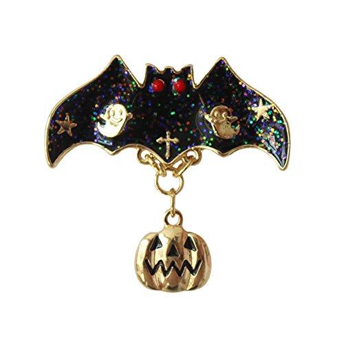 hten Halloween Legierung Dek Frauen Brosche/Herren Brosche Anzug Brooch / Hochzeit Dekoration/ Geburtstags Geschenk Pin (Schwarze Schläger) (Halloween Brosche)