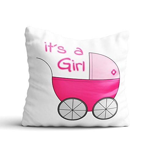 l / Boy - Junge / Mädchen / Kinder / Geburt / Baby, Design:Design 1, Kissen:Premiumkissen (Baby Girl 1. Geburtstag-thema-ideen)