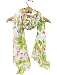 Disaster Designs Havana Large Scarf, Beach Wrap / Sarong - Hummingbird Cream