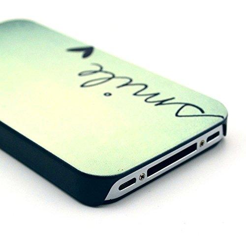 [A4E] Coque rigide, Coque pour Apple iPhone 4(4G/4S), divers motifs YOLO - smile