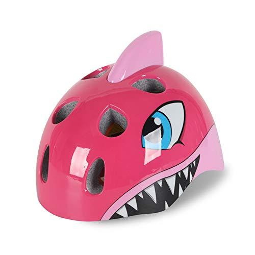 HS-GUANLY Kinderhelm Fahrradhut Stoßfeste Ausrüstung Rosa Atmungsaktiver Big Shark Fahrradhelm Einteiliger Helm - Helm Mohawk Fahrrad