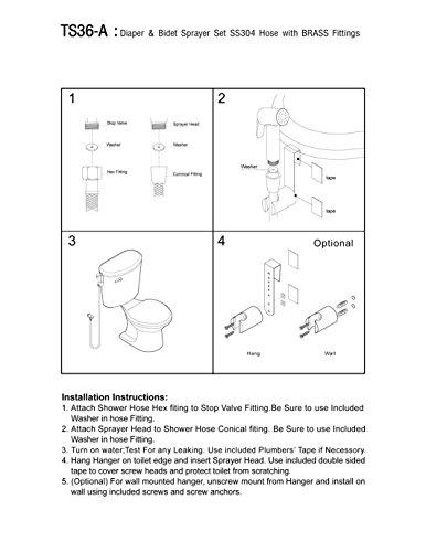 modona Premium WC-Spray & Bidet Set-Edelstahl (SS304)-Satin Nickel-5Jahr Vorteil
