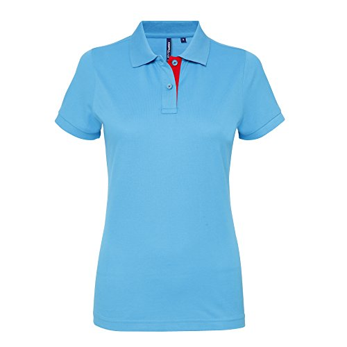 Asquith Fox -  Polo  - Donna Turquoise/Red