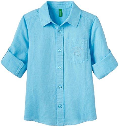 UCB KIDS Baby Boys' Shirt (15P5QK35Q280G35T1Y_Mascow Blue Green_1Y)