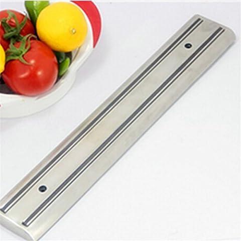 Le Loup Lune® Professionnel en acier inoxydable couteau magnétique outil Bar, magnétique, support bande, une installation rapide et facile de cuisine Couteaux (36cm)
