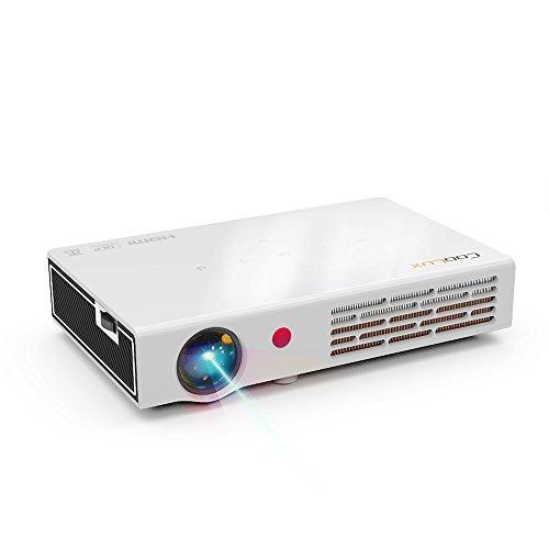 Mini Projektor 500 ANSI Lumen Native Auflösung 1280x800 Pixel unterstützt. 1080p DLP Beamer 3D Full HD 3D HDMI Projektor