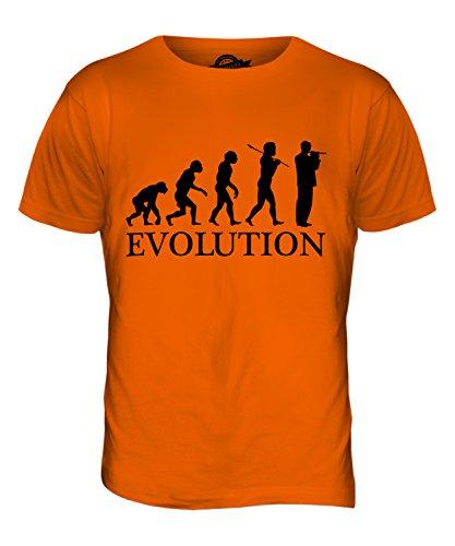 CandyMix Piccoloflöte Evolution Des Menschen Herren T Shirt Orange