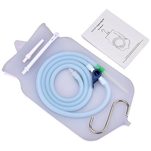 Überlegen Wiederverwendbar Klistierbeutel Enema Bag Kit für Darmreinigung mit Silikonschlauch (2 Quart, Open top) für Zuhause, Dusche, Kaffee & Wasser Darmspülung/Entgiften Enemas