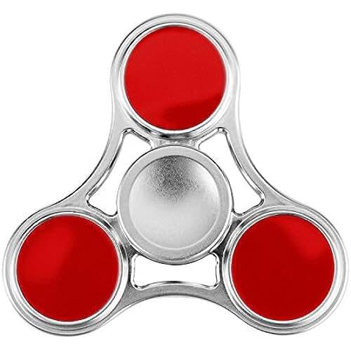 fidget spinner el nuevo juguete de moda SPARIN Tri Spinner Fidget Juguete [Reducido Presión] [Girado Alta Velocidad y Silenciosa] [Teniendo Cerámica] Juguete para Niños o Adultos, Fidget Spinner de Dedo Rojo