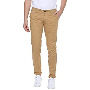 Urbano Fashion Men's Beige Slim Fit Stretchable Casual Chinos (chino-beige-30-fba)