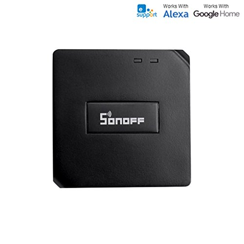 Sonoff RF Bridge 433MHz Fernbedienung 2.4G WiFi Smart Switch Ersatzfernbedienung Funktioniert mit Amazon Alexa und Google Home