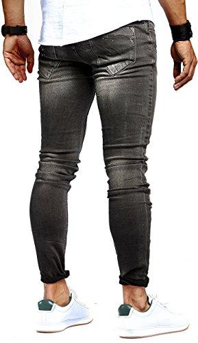 LEIF NELSON Herren Hose Jeans Stretch Schwarz Jeanshose Freizeithose Denim Slim Fit LN9905SC; W29L32, Blau - 2