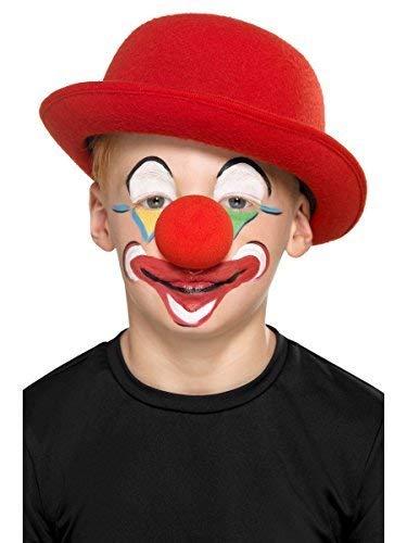 e Set - Kinder Erwachsene Mädchen Jungen Witzig Clown + Nase Zirkus Make-Up Halloween Kostüm Kleid Outfit Zubehör Set ()