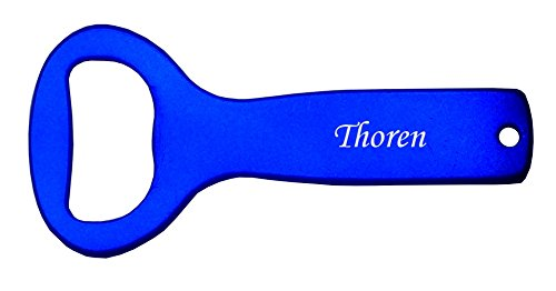 Price comparison product image Metal bottle opener with engraved name: Thoren (first name/surname/nickname)