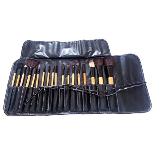 Zhhlaixing 18 Pcs Makeup Brush Set Professional Wood Handle Premium Blending Blush Concealer Eye Face Brush