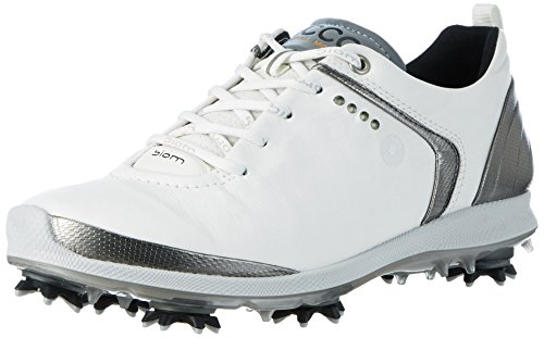 Ecco Women'S Biom G 2, Chaussures de Golf Femme, Weiß (58251WHITE/Dark Shadow), 38 EU