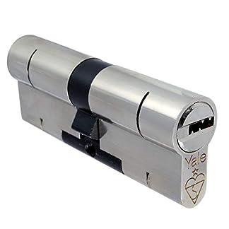 40 55/YALE Superior níquel homesecure Euro anti-fijación // / antigolpes con botón giratorio para taladro/uPVC barril compuesto de seguridad para puerta cerradura llave Extra opción perfil