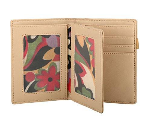 RFID borsa del portafoglio MENKAI disegno Buhos 773C2 Balsam Verde Beige