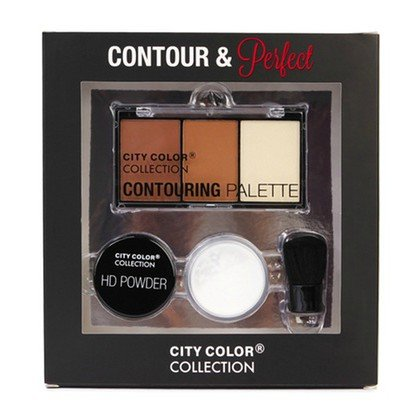 (3 Pack) CITY COLOR Contour and Perfect Powder Makeup Kit
