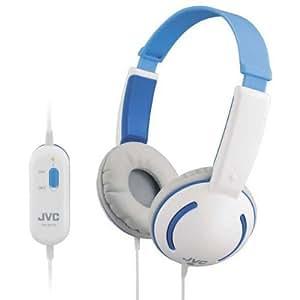 JVC HA-KD10AE Kindgerechter Stereokopfhörer (85 dB, 100 mW) blau