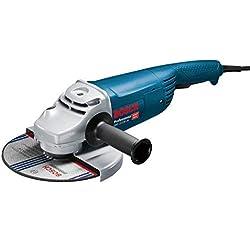 Bosch Professional Meuleuse d'angle professionnelle Filaire GWS 22-230 JH (2 200W, Ø meule: 230 mm, pack d'accessoires)