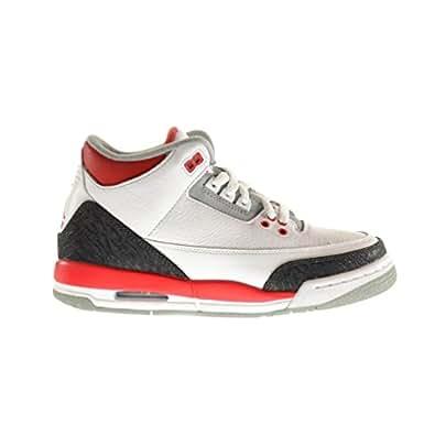 Nike AIR JORDAN Retro 3 GS 398614-120 Junior, colore: bianco, Bianco (bianco), 39