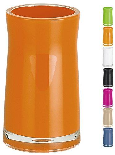 Orange Zahnbürstenhalter (Spirella Zahnputzbecher Zahnbürstenhalter Sydney 6,5x12,5 cm Orange)