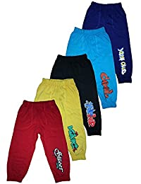 T2F Boys' Cotton Track Pant (Pack of 5, Multicolour)
