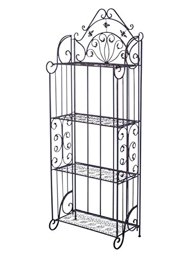 Nostagie Regal 170cm Eisenregal Blumenregal Gartenregal antik Stil braun shelf