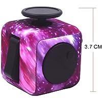Fidget Cube Alivia el Estrés y Ansiedad con 6 Funciones Distintas para Niños Jóvenes Adultos (Starry Sky)
