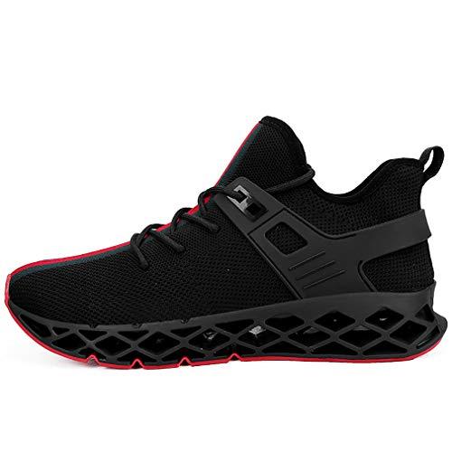 Sportschuhe, Unisex Bequem Air Laufschuh Schnürer Gym Fitness Casual Mesh Ultraleichte Sport Schuhe,black,44 -