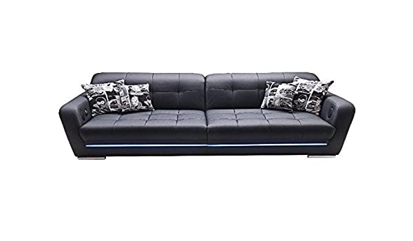 Big Sofa Mercury Schwarz LED Sound Anthrazit schwarz Holz Stoff ...