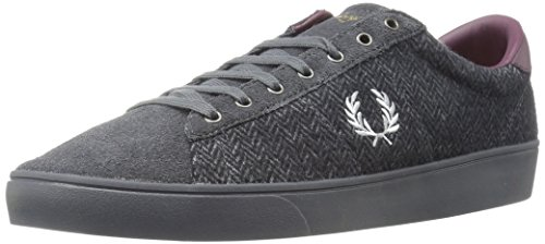 Fred Perry Spencer Tweed/Suede Charcoal B9071491, Scarpe sportive - 42 EU