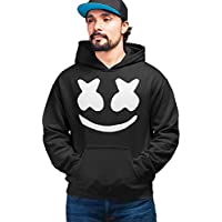 PrintBharat Unisex Marshmellow Design Printed 100% Cotton Hoodie in Black Color Size,Large