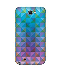 Blue Triangles Samsung Galaxy Note 2 Case