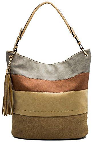 Handtaschen Damen Hobo Henkeltaschen Frauen Handtasche Quaste Fransen Schultertaschen Designer Tasche Umhängetasche