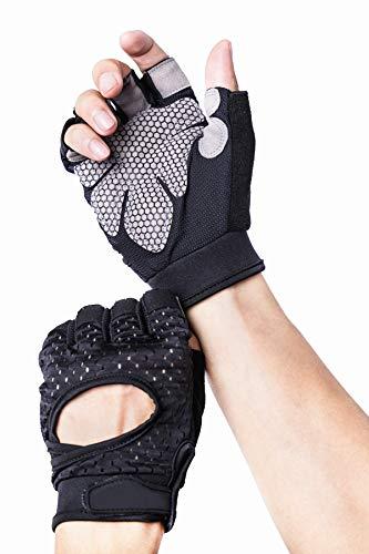 Avril Tian Atmungsaktiv Ultralight Gewicht Lifting Sport Handschuhe, Trainings Gym Handschuhe Unterstützung für Powerlifting, Cross Training, Fitness, Bodybuilding, Herren und Damen, M
