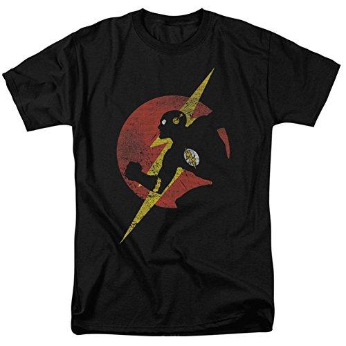The Flash Symbol Knockout T-Shirt für Erwachsene, Schwarz - - X-Groß