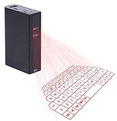 Bluetooth Wireless Virtuelle Tastatur mit Built in Powerbank Projektion, Maus für iPad iPhone Tablet PC Notebook