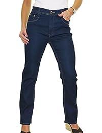 icecoolfashion Womens High Waist Stretch Denim Jeans Straight Legs 14-24