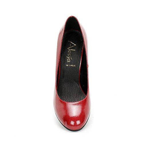Alesya by Scarpe&Scarpe - Scarpe col Tacco con effetto lucido Rosso