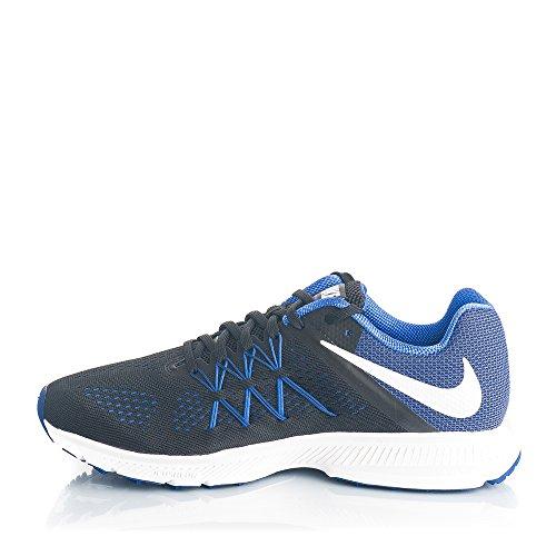 Nike Zoom Winflo 3, Chaussures de Course Homme Multicolore (Black/white-paramount Blue)