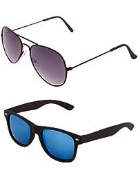 ADDON EYEWEAR Brand UV Protected Unisex Aviator-Wayfarer Sunglasses For Men Women Boys Girls Non Polarized Goggle...