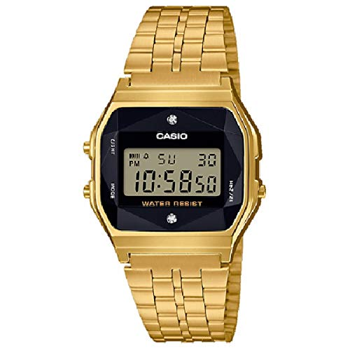 Casio Collection Unisex Watch A159WGED-1EF - Digital with Gold Plated Bracelet