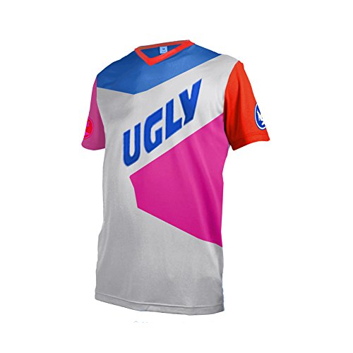 Uglyfrog MT30 Herren Sommer Kurzarm V-Kragen Motorsport Motorrad Moto Cycling Racing Racer T-Shirt (Racing Womens Triathlon)