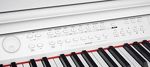 Steinmayer DP-380 WM Digitalpiano (88 Tasten, Holztasten, Hammermechanik, Triple-Sensor-System, LCD, Begleitautomatik, 2 Kopfhöreranschlüsse, 1 Mikrofonanschluss mit eigenen EQ-Einstellungen und Effekten, MP3 Player) weiß matt - 6